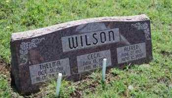 WILSON, ALFRED - Washita County, Oklahoma | ALFRED WILSON - Oklahoma Gravestone Photos