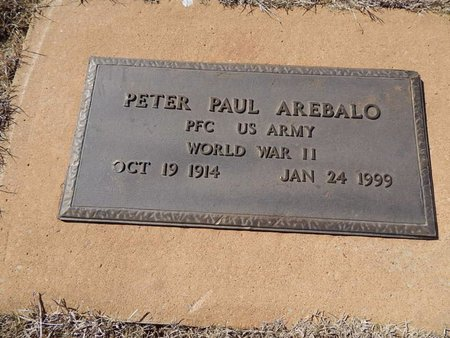 AREBALO (VETERAN WWII), PETER PAUL - Woods County, Oklahoma | PETER PAUL AREBALO (VETERAN WWII) - Oklahoma Gravestone Photos