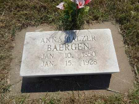 BAERGEN, ANNA - Woods County, Oklahoma | ANNA BAERGEN - Oklahoma Gravestone Photos