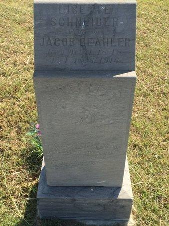 SCHNEIDER BEAHLER, LISETTE - Woods County, Oklahoma | LISETTE SCHNEIDER BEAHLER - Oklahoma Gravestone Photos