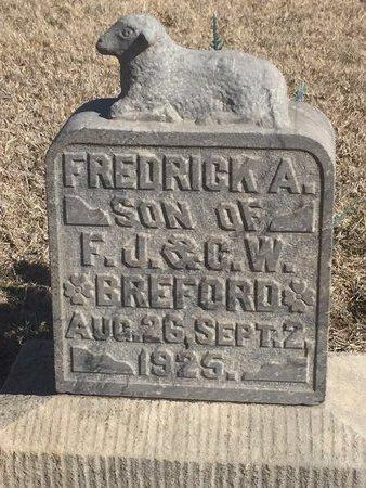 BREFORD, FREDRICK A - Woods County, Oklahoma   FREDRICK A BREFORD - Oklahoma Gravestone Photos