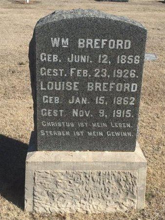 BREFORD, LOUISE - Woods County, Oklahoma | LOUISE BREFORD - Oklahoma Gravestone Photos