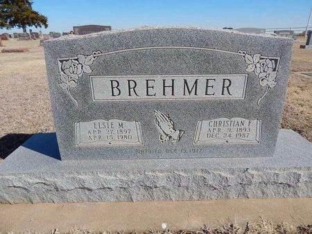 BREHMER, CHRISTIAN F - Woods County, Oklahoma | CHRISTIAN F BREHMER - Oklahoma Gravestone Photos