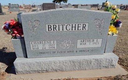 BRITCHER, CHARLENE F - Woods County, Oklahoma   CHARLENE F BRITCHER - Oklahoma Gravestone Photos