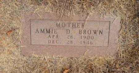 BROWN, AMMIE DRUCILLA - Woods County, Oklahoma   AMMIE DRUCILLA BROWN - Oklahoma Gravestone Photos