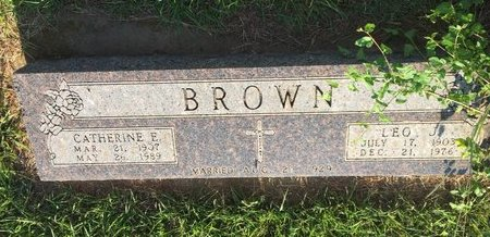 BROWN, LEO J - Woods County, Oklahoma   LEO J BROWN - Oklahoma Gravestone Photos
