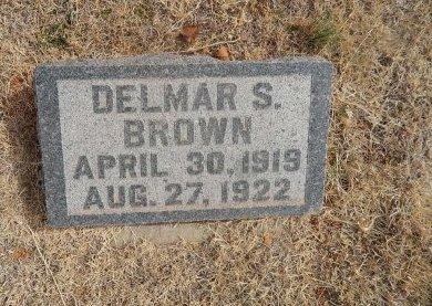 BROWN, DELMAR S - Woods County, Oklahoma   DELMAR S BROWN - Oklahoma Gravestone Photos