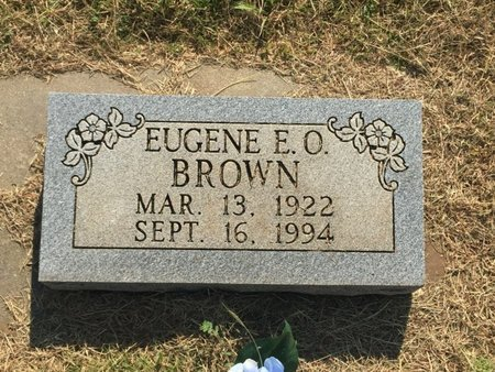 BROWN, EUGENE E O - Woods County, Oklahoma | EUGENE E O BROWN - Oklahoma Gravestone Photos