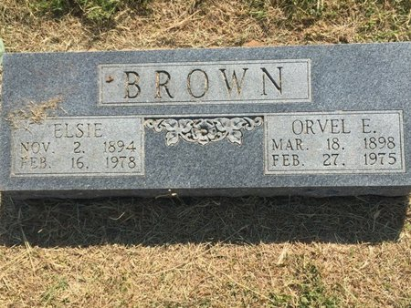 BROWN, ORVEL E - Woods County, Oklahoma | ORVEL E BROWN - Oklahoma Gravestone Photos