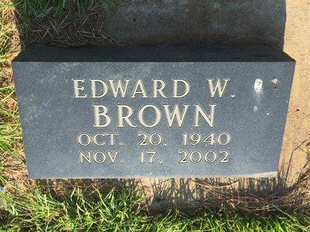 BROWN, EDWARD W - Woods County, Oklahoma   EDWARD W BROWN - Oklahoma Gravestone Photos