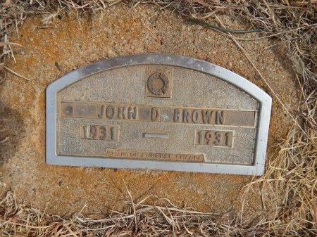 BROWN, JOHN D - Woods County, Oklahoma   JOHN D BROWN - Oklahoma Gravestone Photos