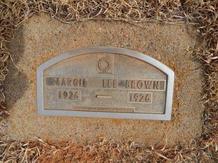 BROWN, MARGIE LEE - Woods County, Oklahoma   MARGIE LEE BROWN - Oklahoma Gravestone Photos