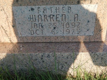 BROWN, WARREN A (CLOSE-UP) - Woods County, Oklahoma | WARREN A (CLOSE-UP) BROWN - Oklahoma Gravestone Photos
