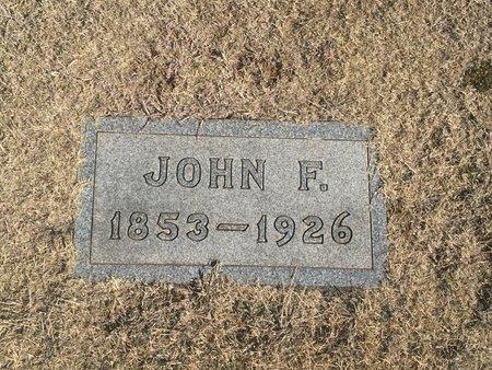 BRUNE, JOHN F - Woods County, Oklahoma | JOHN F BRUNE - Oklahoma Gravestone Photos