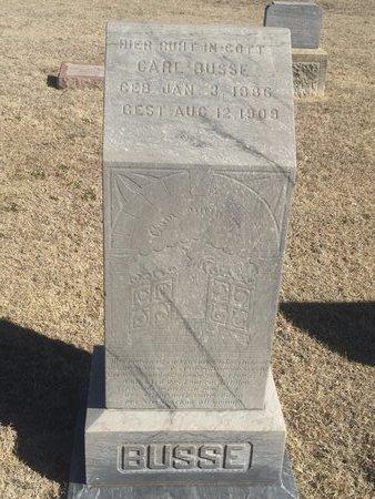BUSSE, CARL - Woods County, Oklahoma | CARL BUSSE - Oklahoma Gravestone Photos