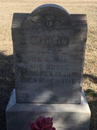 BUSSE, MARTIN - Woods County, Oklahoma   MARTIN BUSSE - Oklahoma Gravestone Photos
