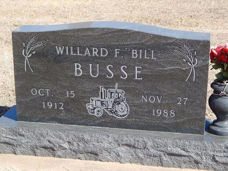 "BUSSE, WILLARD F ""BILL"" - Woods County, Oklahoma   WILLARD F ""BILL"" BUSSE - Oklahoma Gravestone Photos"