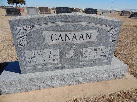 CANAAN, BILLY J - Woods County, Oklahoma | BILLY J CANAAN - Oklahoma Gravestone Photos