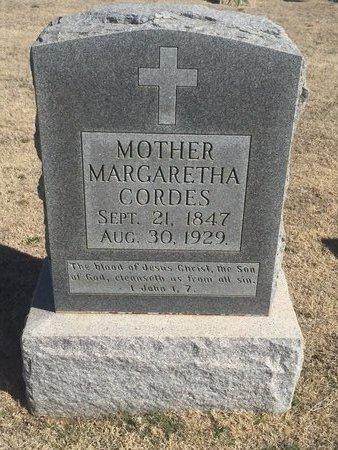 CORDES, MARGARETHA - Woods County, Oklahoma | MARGARETHA CORDES - Oklahoma Gravestone Photos