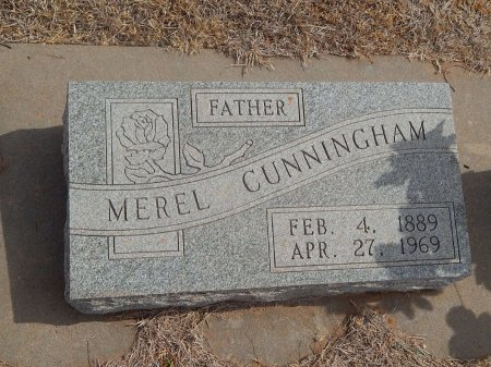 CUNNINGHAM, MEREL - Woods County, Oklahoma | MEREL CUNNINGHAM - Oklahoma Gravestone Photos