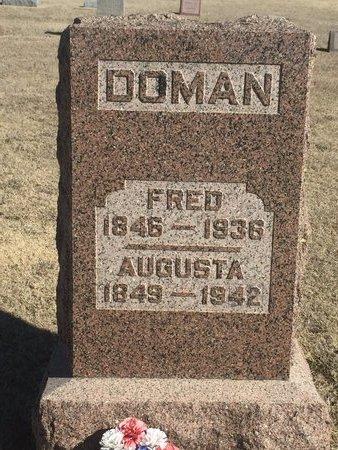DOMAN, AUGUSTA - Woods County, Oklahoma | AUGUSTA DOMAN - Oklahoma Gravestone Photos