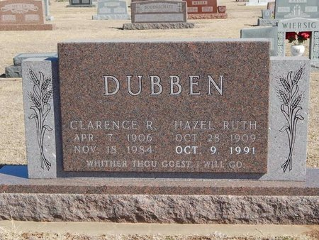 DUBBEN, CLARENCE R - Woods County, Oklahoma   CLARENCE R DUBBEN - Oklahoma Gravestone Photos