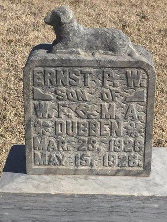 DUBBEN, ERNST P W - Woods County, Oklahoma   ERNST P W DUBBEN - Oklahoma Gravestone Photos
