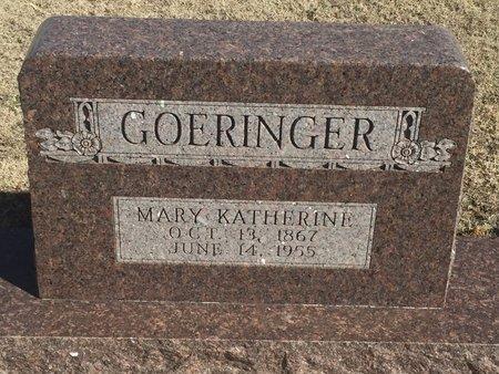 GOERINGER, MARY KATHERINE - Woods County, Oklahoma   MARY KATHERINE GOERINGER - Oklahoma Gravestone Photos