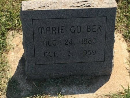 GOLBEK, MARIE - Woods County, Oklahoma | MARIE GOLBEK - Oklahoma Gravestone Photos