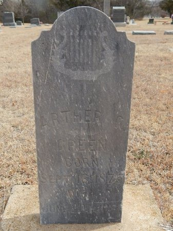 GREEN, ARTHER G - Woods County, Oklahoma | ARTHER G GREEN - Oklahoma Gravestone Photos