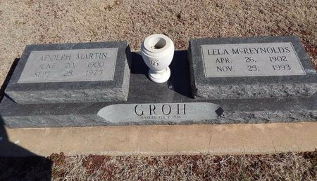 MCREYNOLDS GROH, LELA - Woods County, Oklahoma | LELA MCREYNOLDS GROH - Oklahoma Gravestone Photos