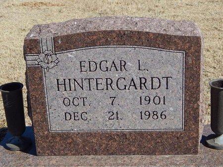 HINTERGARDT, EDGAR L - Woods County, Oklahoma   EDGAR L HINTERGARDT - Oklahoma Gravestone Photos