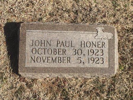HONER, JOHN PAUL - Woods County, Oklahoma   JOHN PAUL HONER - Oklahoma Gravestone Photos
