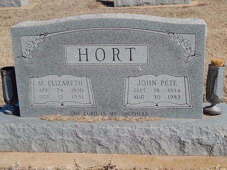 HORT, JOHN PETE - Woods County, Oklahoma | JOHN PETE HORT - Oklahoma Gravestone Photos