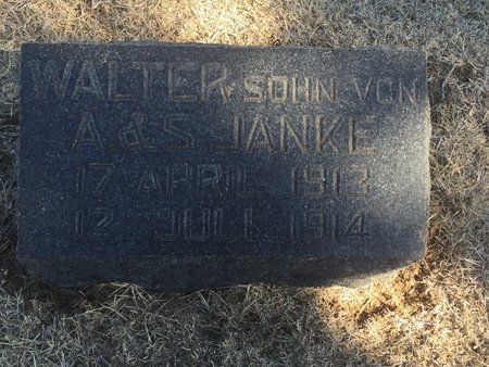 JANKE, WALTER - Woods County, Oklahoma | WALTER JANKE - Oklahoma Gravestone Photos