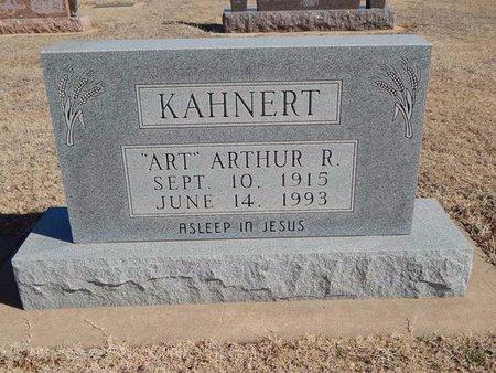 """KAHNERT, ARTHUR R """"ART"""" - Woods County, Oklahoma   ARTHUR R """"ART"""" KAHNERT - Oklahoma Gravestone Photos"""