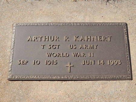 KAHNERT (VETERAN WWII), ARTHUR R - Woods County, Oklahoma | ARTHUR R KAHNERT (VETERAN WWII) - Oklahoma Gravestone Photos