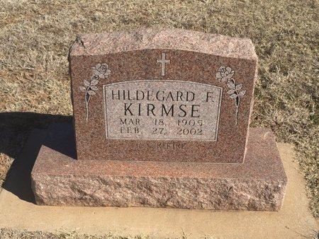 KLETKE KIRMSE, HILDEGARD F - Woods County, Oklahoma   HILDEGARD F KLETKE KIRMSE - Oklahoma Gravestone Photos