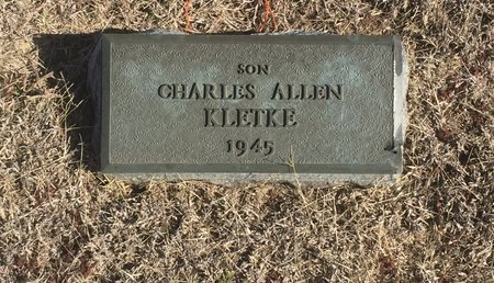 KLETKE, CHARLES ALLEN - Woods County, Oklahoma | CHARLES ALLEN KLETKE - Oklahoma Gravestone Photos