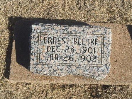 KLETKE, ERNEST - Woods County, Oklahoma   ERNEST KLETKE - Oklahoma Gravestone Photos