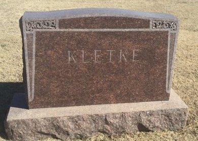 KLETKE, FAMILY MARKER - Woods County, Oklahoma   FAMILY MARKER KLETKE - Oklahoma Gravestone Photos