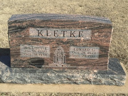 KLETKE, IDA LOUISE - Woods County, Oklahoma   IDA LOUISE KLETKE - Oklahoma Gravestone Photos