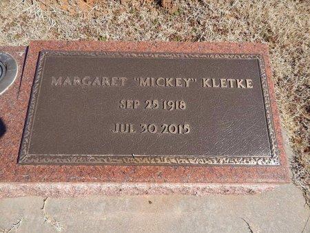 "KLETKE, MARGARET ""MICKEY"" - Woods County, Oklahoma   MARGARET ""MICKEY"" KLETKE - Oklahoma Gravestone Photos"