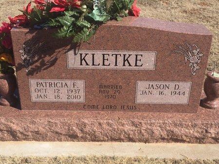 KLETKE, PATRICIA F - Woods County, Oklahoma | PATRICIA F KLETKE - Oklahoma Gravestone Photos