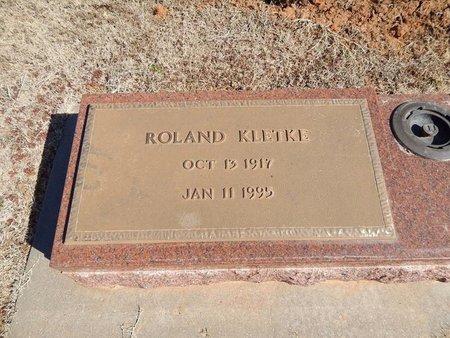 KLETKE, ROLAND - Woods County, Oklahoma | ROLAND KLETKE - Oklahoma Gravestone Photos