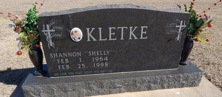 "KLETKE, SHANNON ""SHELLY"" - Woods County, Oklahoma   SHANNON ""SHELLY"" KLETKE - Oklahoma Gravestone Photos"