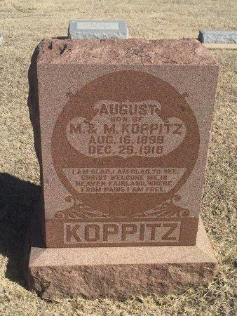 KOPPITZ, AUGUST - Woods County, Oklahoma | AUGUST KOPPITZ - Oklahoma Gravestone Photos