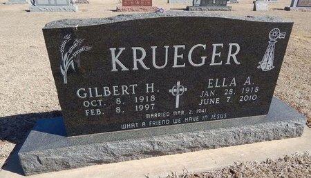 KRUEGER, ELLA A - Woods County, Oklahoma | ELLA A KRUEGER - Oklahoma Gravestone Photos
