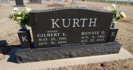 KURTH, BONNIE D - Woods County, Oklahoma | BONNIE D KURTH - Oklahoma Gravestone Photos