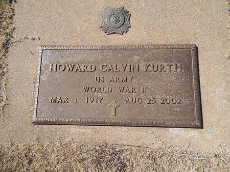 KURTH (VETERAN WWII), HOWARD CALVIN - Woods County, Oklahoma | HOWARD CALVIN KURTH (VETERAN WWII) - Oklahoma Gravestone Photos
